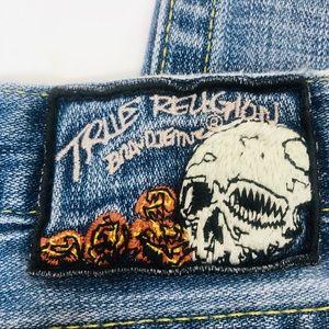 True Religion Vintage Jeans 28 Rare Skull & Roses